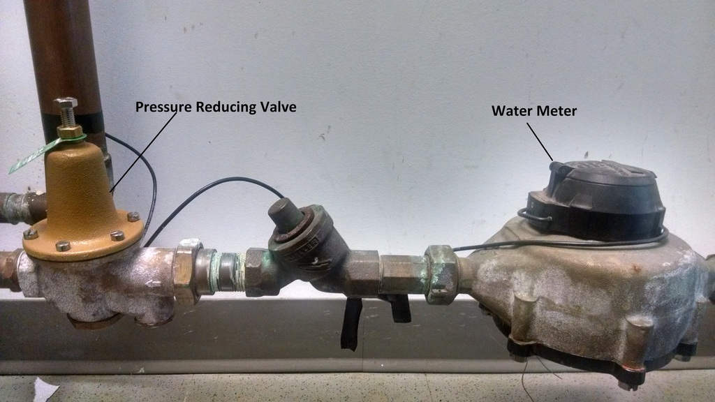 Pressure Reducer with Water Meter